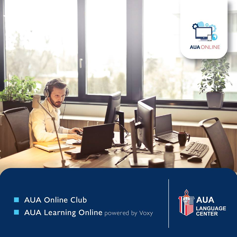 AUA Online. Learn English Online. In the Office